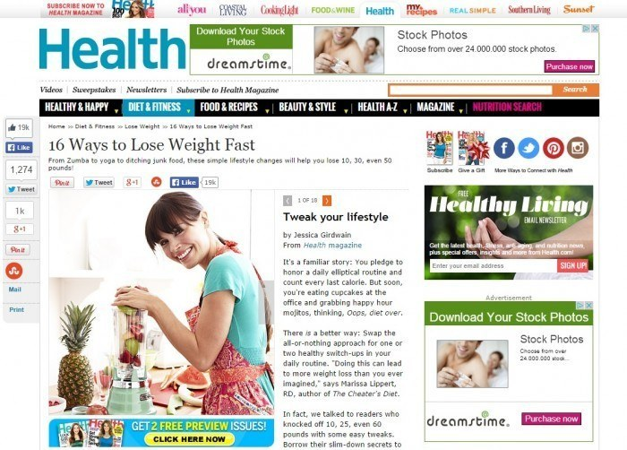 Article About Losing Weight From Health Magazine