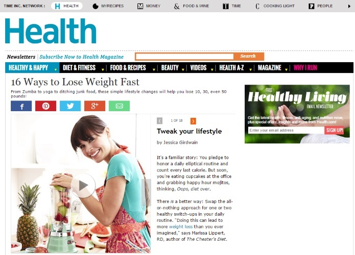 health website on weight loss
