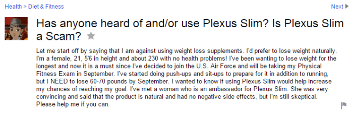 Easy weight loss yahoo answers