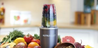 nutribullet with fruit and nuts