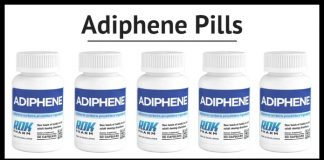 Adiphene bottles of pill