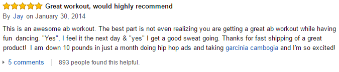 hip hop abs positive amazon review