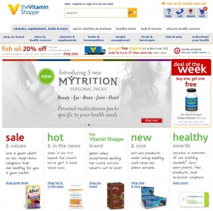 Vitamin Shoppe Screenshot