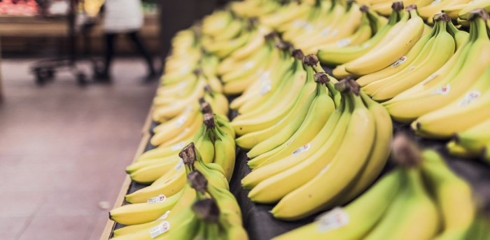bananas in market