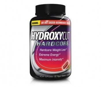 bottle of Hydroxycut Hardcore capsules