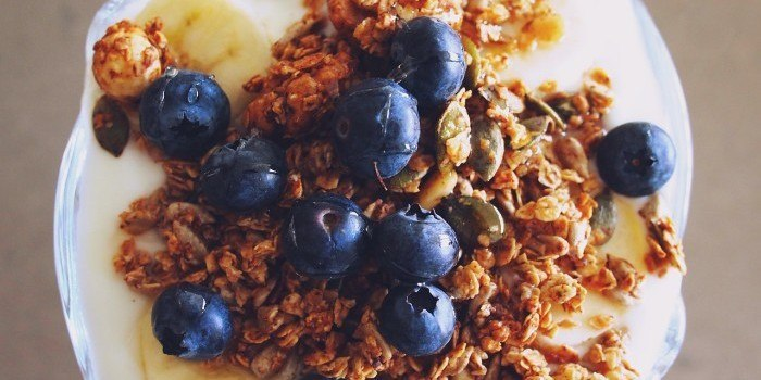granola in bowl