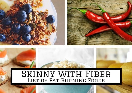 various natural fat burning foods