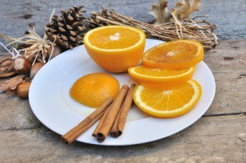 Fresh Orange With Cinnamon