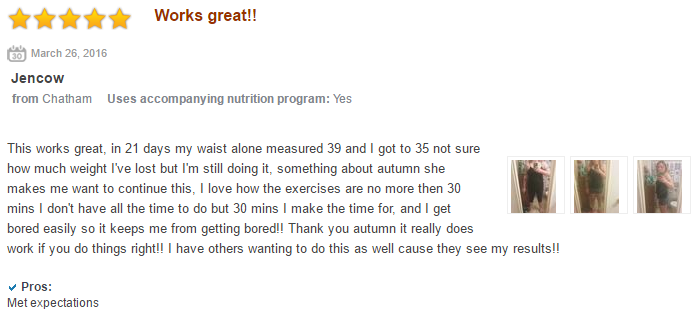 21 day fix user review