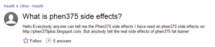yahoo-answers phen side effects question
