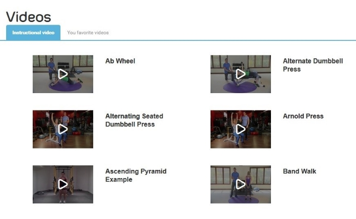 VF exercise videos