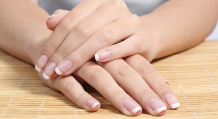 female hand with nails