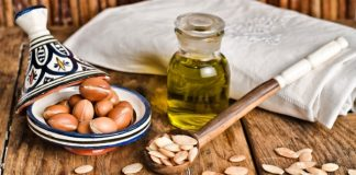 argan fruit and oil