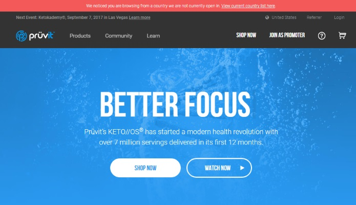 official website of Keto OS Pruvit