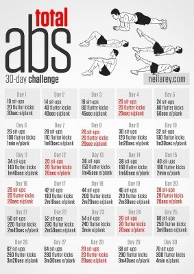 the beginner's guide to 30 day ab challenge 2016